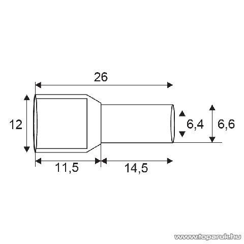Érvéghüvely, 2 x 10 mm2-es vezetékekhez, zöld, 100 db / csomag (05727)