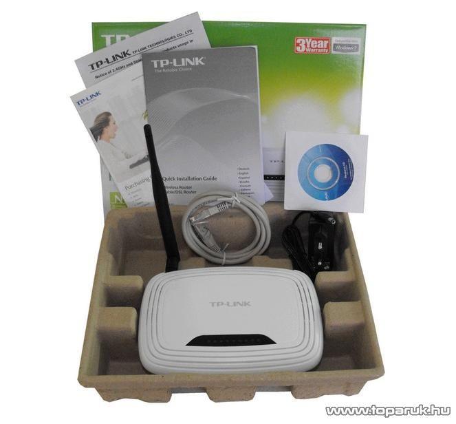TP-LINK TL-WR741ND 150 Mbps Wireless (Wifi) Router, Cserélhető antennás