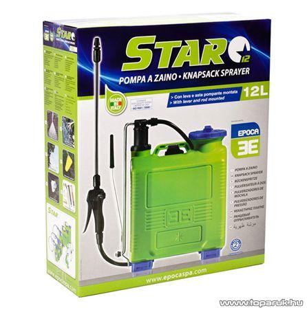 Epoca STAR kézi működtetésű háti permetező, 12 L