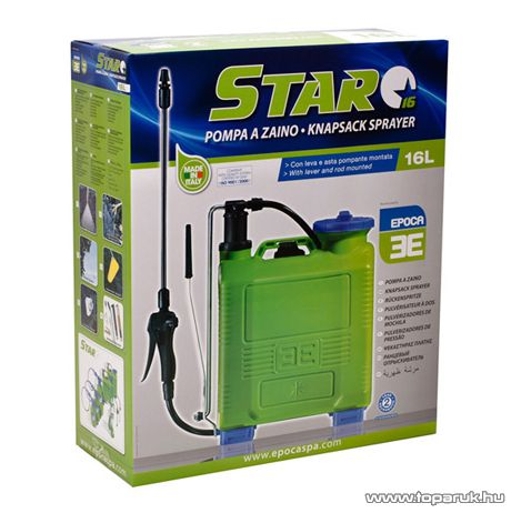 Epoca STAR kézi működtetésű háti permetező, 16 L