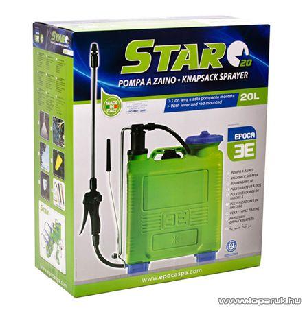 Epoca STAR kézi működtetésű háti permetező, 20 L
