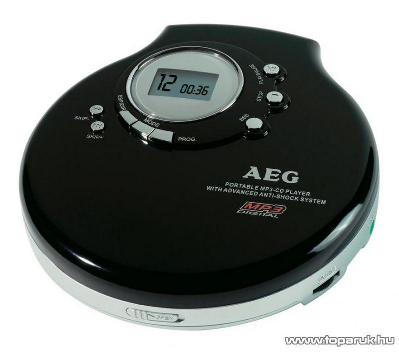 AEG CDP 4212 Hordozható CD lejátszó, MP3 Discman, fekete - készlethiány