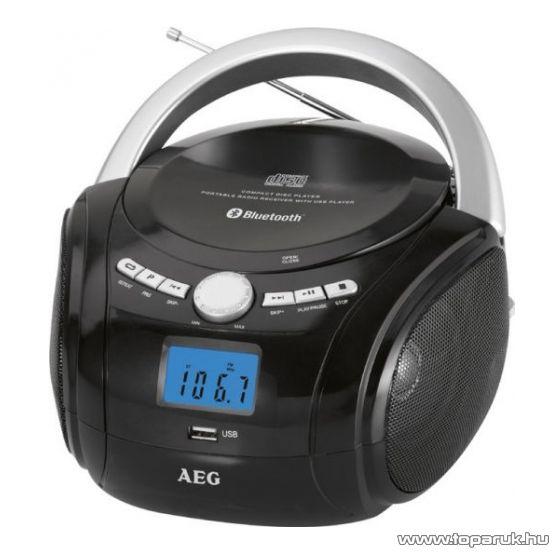 AEG SR4348 Hordozható bluetooth-os USB/CD/MP3 lejátszó - készlethiány