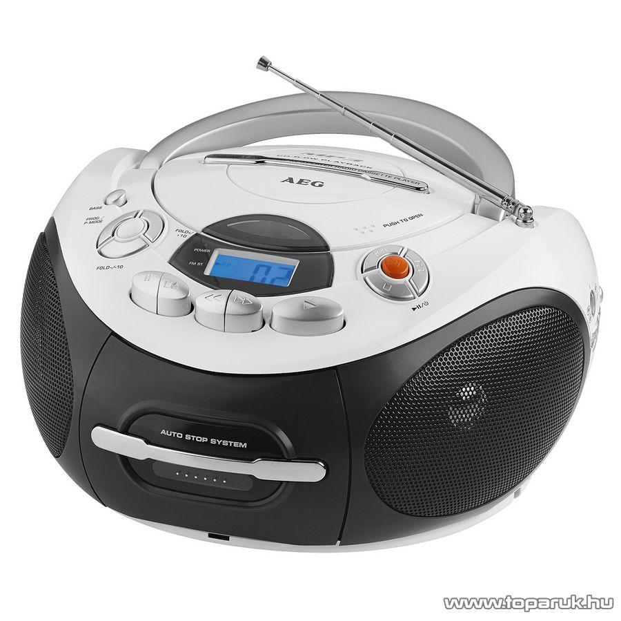 AEG SR4353 Hordozható sztereo CD/MP3/AUX kazettás rádió - készlethiány