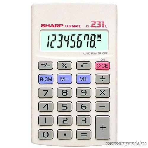 Sharp EL-231L Mini számológép. zsebszámológép - készlethiány