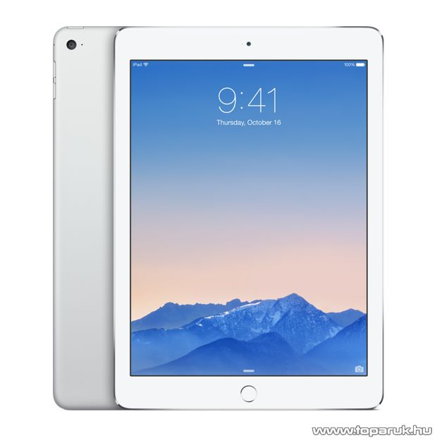 Apple iPad Air 2 Wi-Fi Tablet, 16GB, ezüst - fehér (mglw2hc/a)