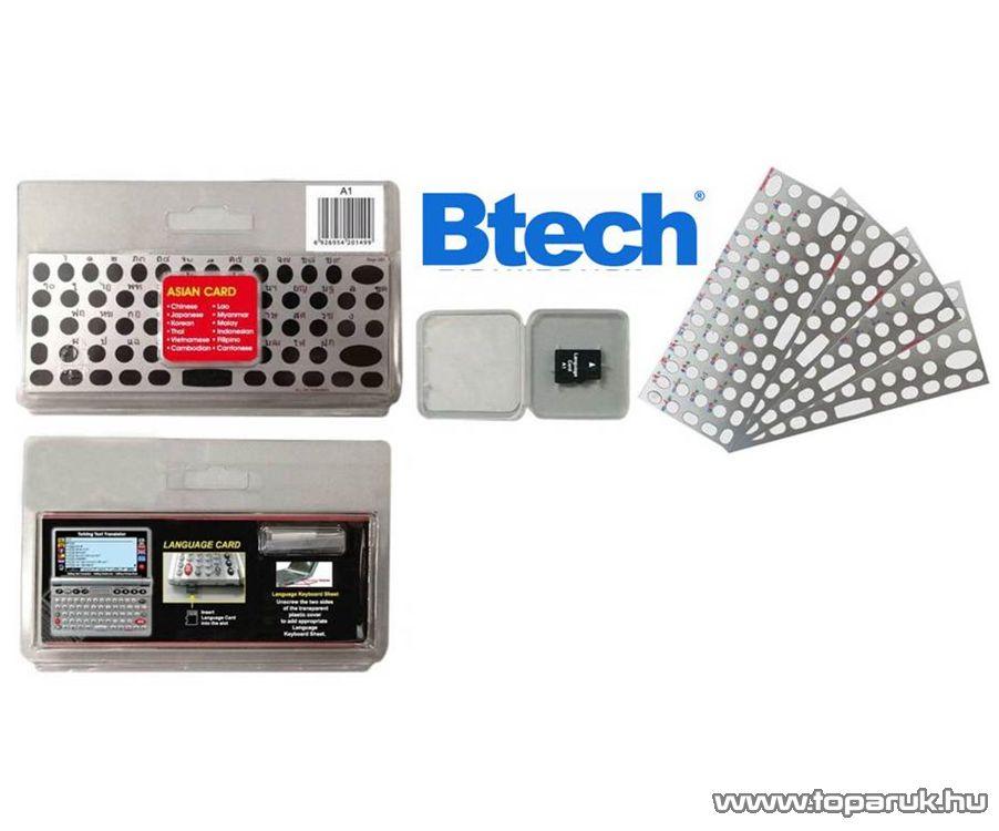 Btech Vocal Euro Card E-3 többnyelvű nyelvi kártya Btech Vocal V4 és V5 típusú szótárgépekhez (12 nyelv)