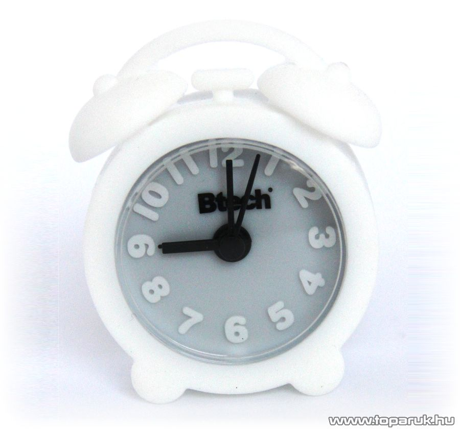 Btech BA-02 Mini szilikon ébresztő óra, fehér