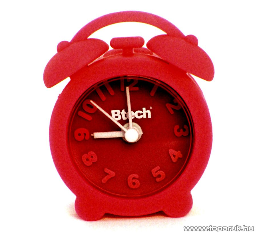 Btech BA-04 Mini szilikon ébresztő óra, piros