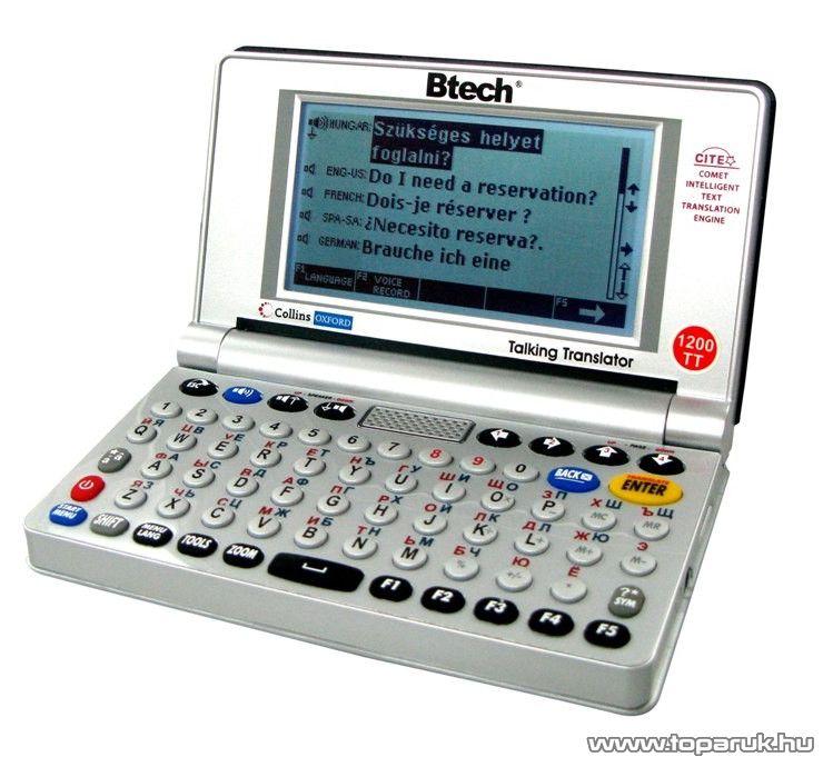 Btech VOCAL 1200 TT 12 nyelvű beszélő szótárgép - megszűnt termék: 2015. október