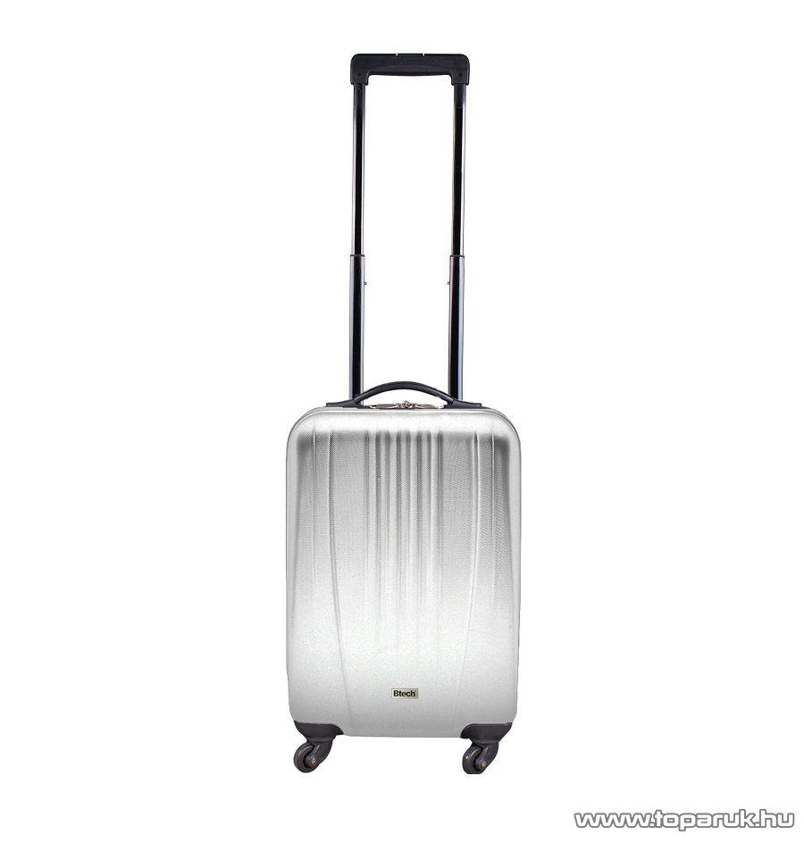 """Btech 4 kerekes kabin bőrönd 18""""-os, ezüst (8101020)"""
