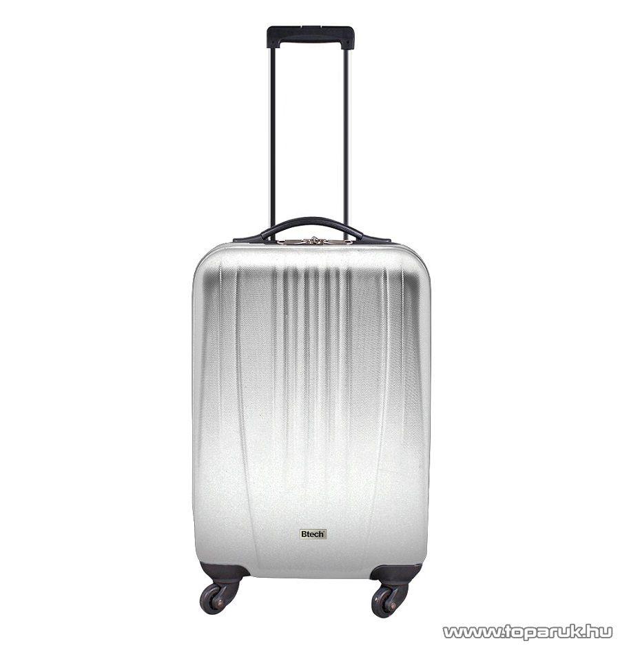 """Btech 4 kerekes állóbőrönd 22""""-os, ezüst (8101021)"""