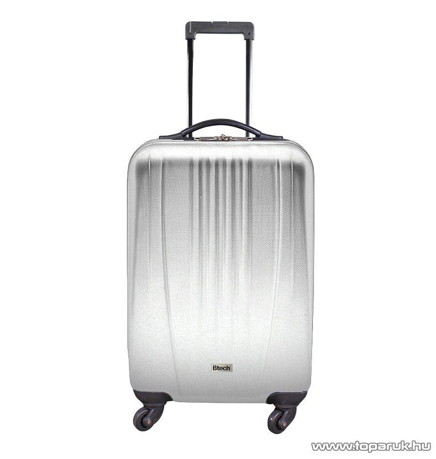 """Btech 4 kerekes állóbőrönd 26""""-os, ezüst (8101022)"""