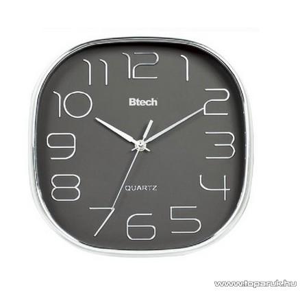 Btech BH-150 Falióra, 28 cm, fém keretes, szürke számlapos