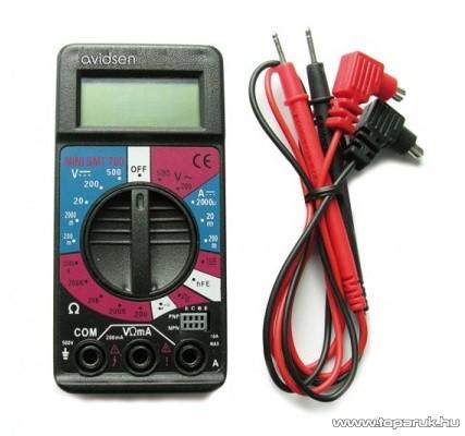 AVIDSEN 107101 Univerzális mini digitális mérőműszer (51000032)