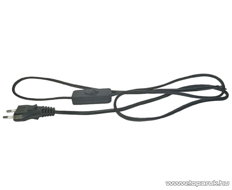 Steck SHK 02 H03VV-F 2x0,75 Flexo kábel kapcsolóval, fekete, 3 m (11150002)