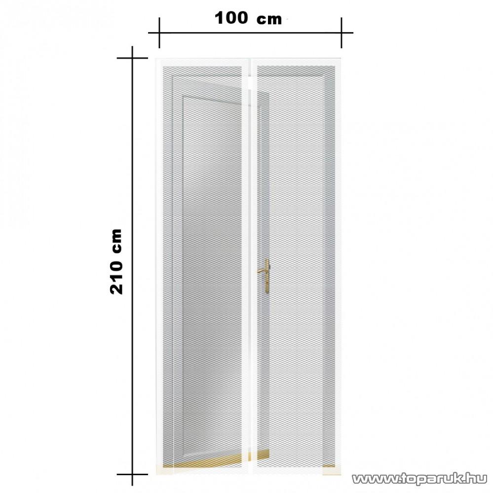 Steck SRM 100F Mosható szúnyogháló függöny ajtóra, mágnessel záródó, 100 x 210 cm (mágneses szúnyogháló), fehér színű