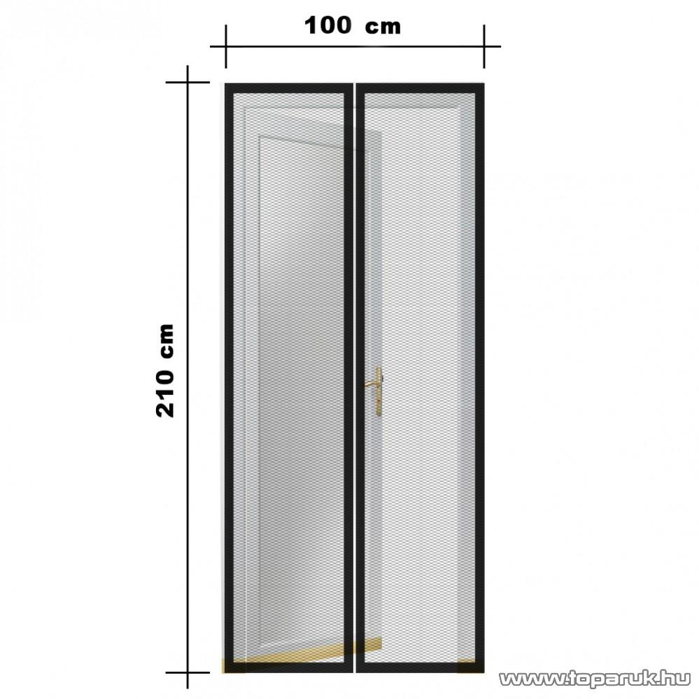 Steck SRM 100 Mosható szúnyogháló függöny ajtóra, mágnessel záródó, 100 x 210 cm (mágneses szúnyogháló), fekete színű