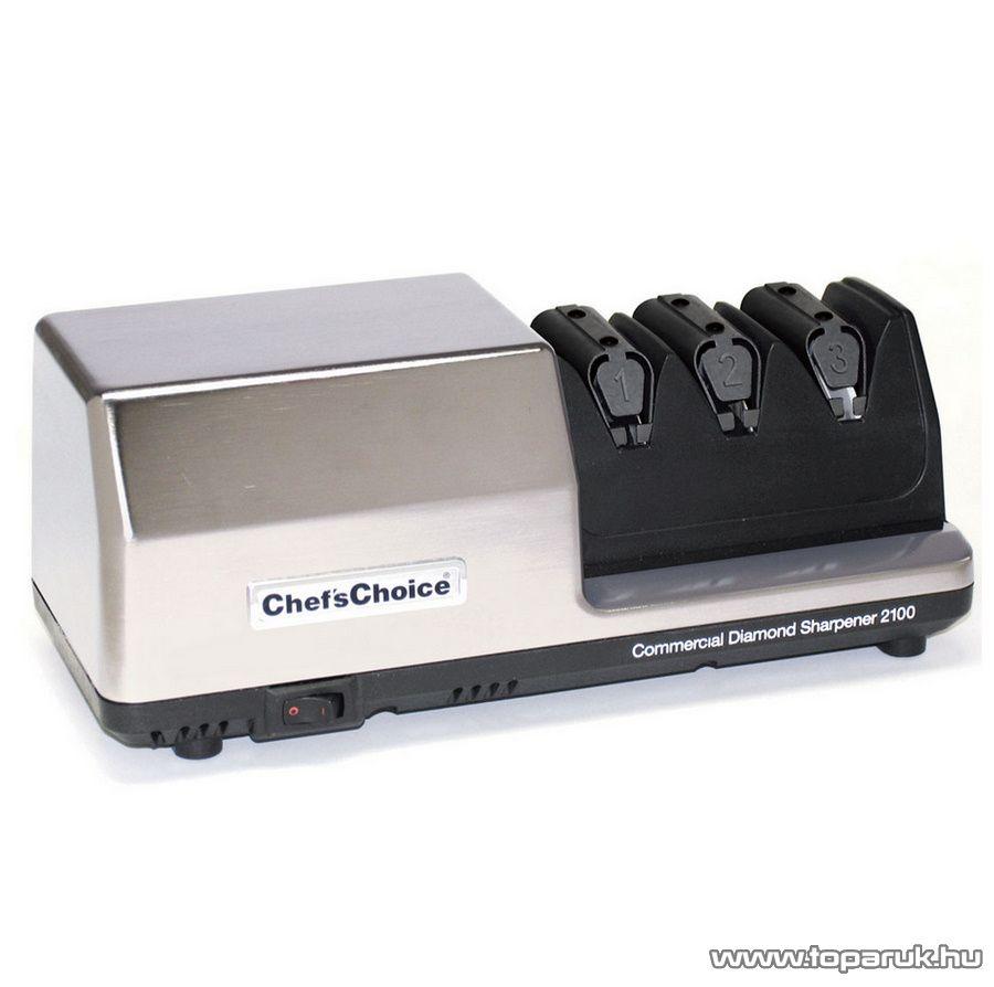 Chef's Choice 2100 Profi, motoros késélező gyémánt kerekekkel