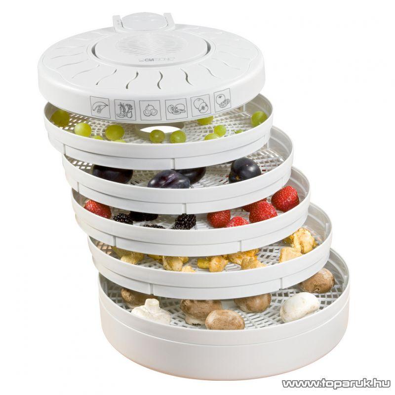 Clatronic DR2751 5 tálcás gyümölcs / zöldség aszaló