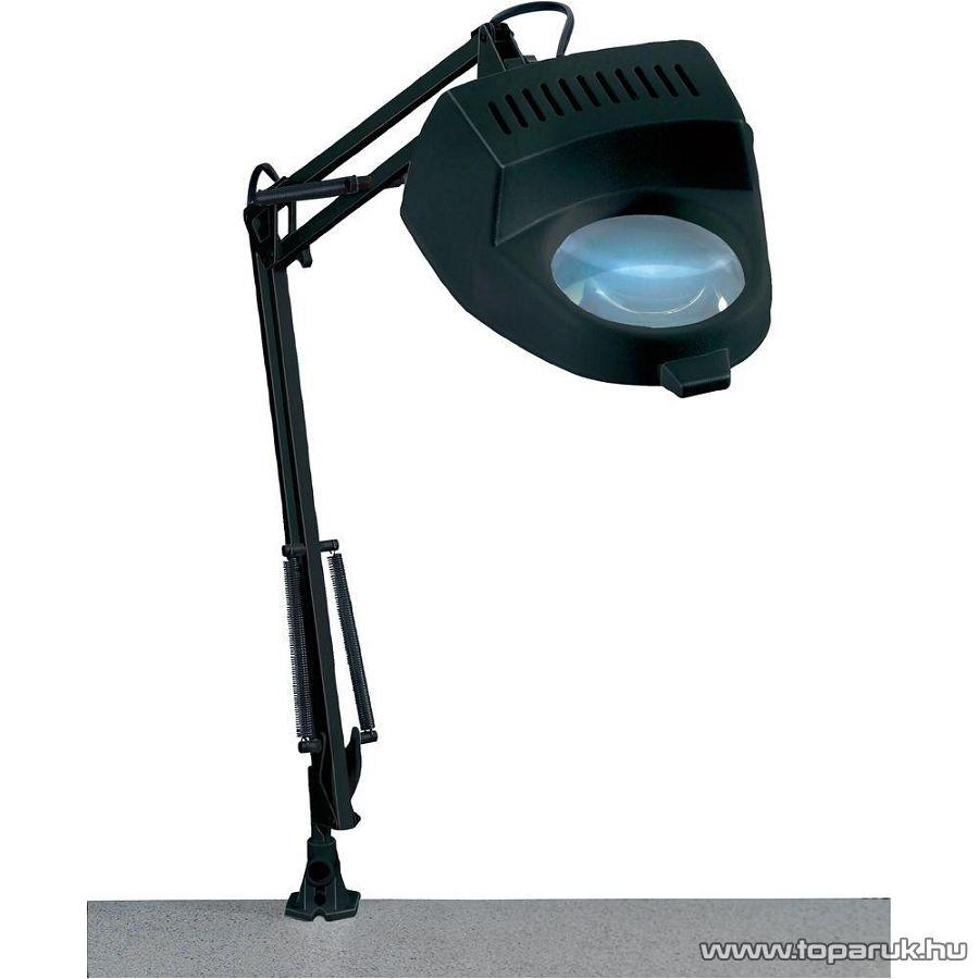 TOOLCRAFT Asztali nagyítós lámpa 2x-es nagyítással, 60W-os, fekete - Megszűnt termék: 2015. november