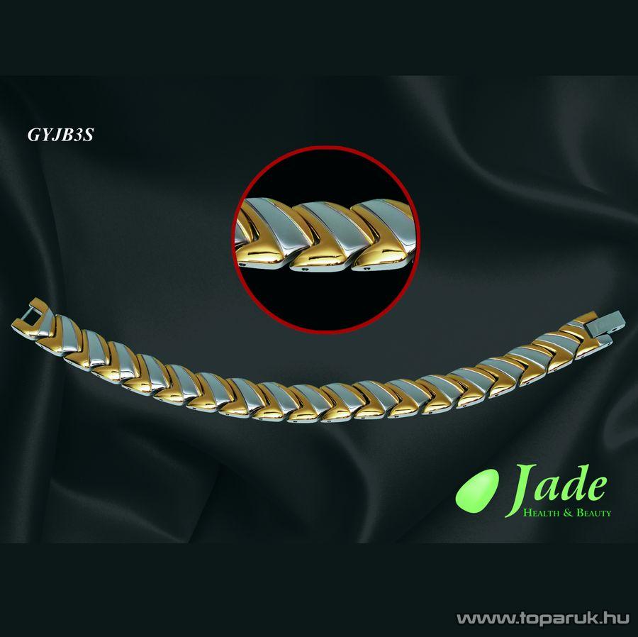 Jade GYJB3S Brillance 3 Orvosi acél, mágneses karkötő, többféle méret
