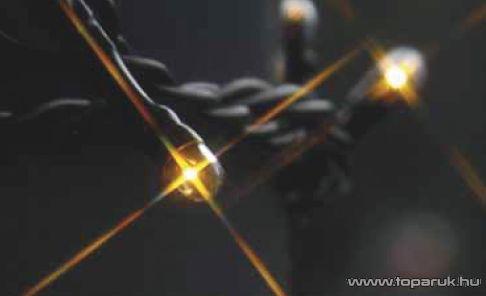 BLACK MICRO KSA 494 Kültéri Micro izzós fényfüzér fekete kábellel, 8 program, 17,9m, melegfehér
