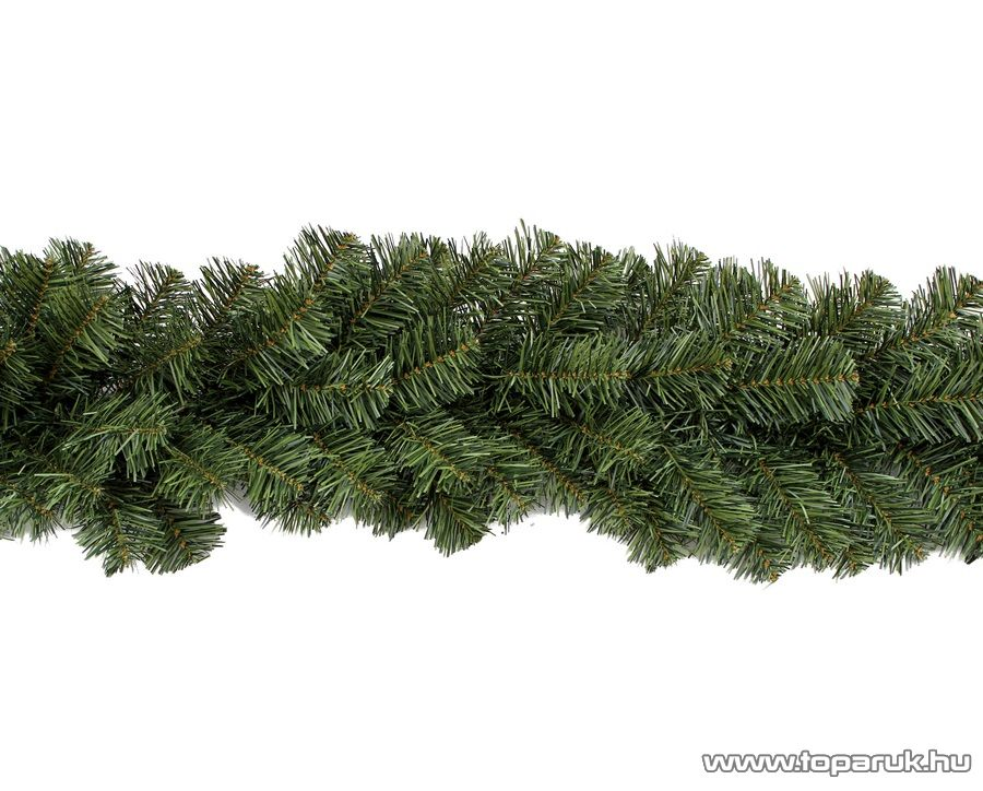 GIRLAND EXTRA DÚS Zöld színű fenyő girland, 270 cm hosszú, 180 ág (KGR 274)