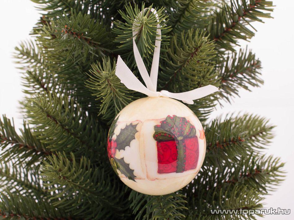 DekorTrend KCG 071 Karácsonyi gömbdísz szett, 75 mm, 6 db / csomag