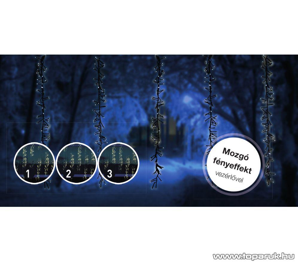 Design Dekor KDF 002 Kültéri LED-es METEOR FÉNYFÜGGÖNY mozgó fényeffekt funkció vezérlővel, 200 x 100 cm, 480 db meleg fehér LED-del