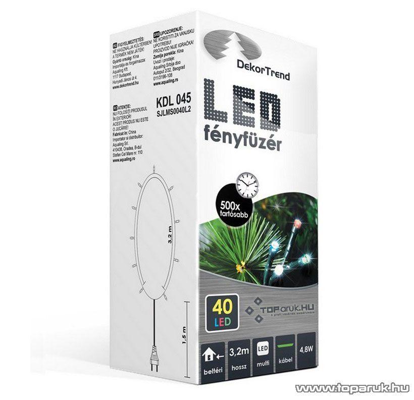 Design Dekor KDL 045 Beltéri LED-es fényfüzér, 40 db színes LED-del