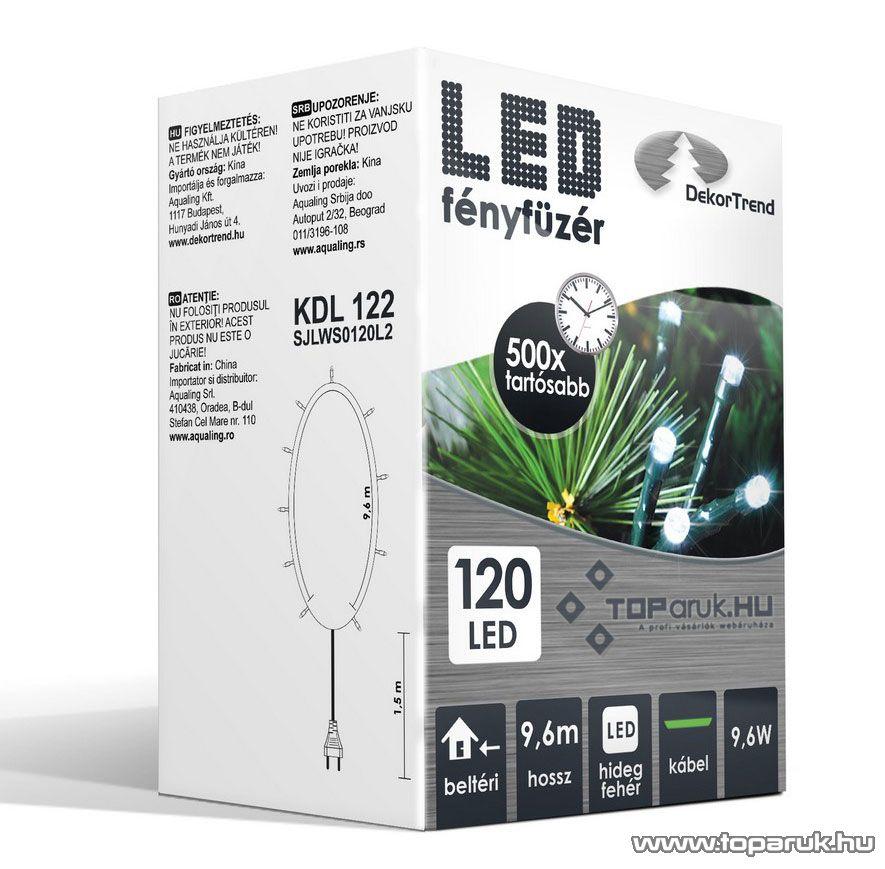 Design Dekor KDL 122 Beltéri LED-es fényfüzér, 120 db hidegfehér LED-del