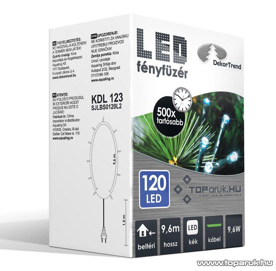 Design Dekor KDL 123 Beltéri LED-es fényfüzér, 120 db kék LED-del