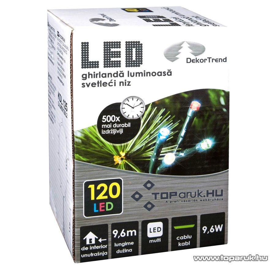 Design Dekor KDL 125 Beltéri LED-es fényfüzér, 120 db színes LED-del