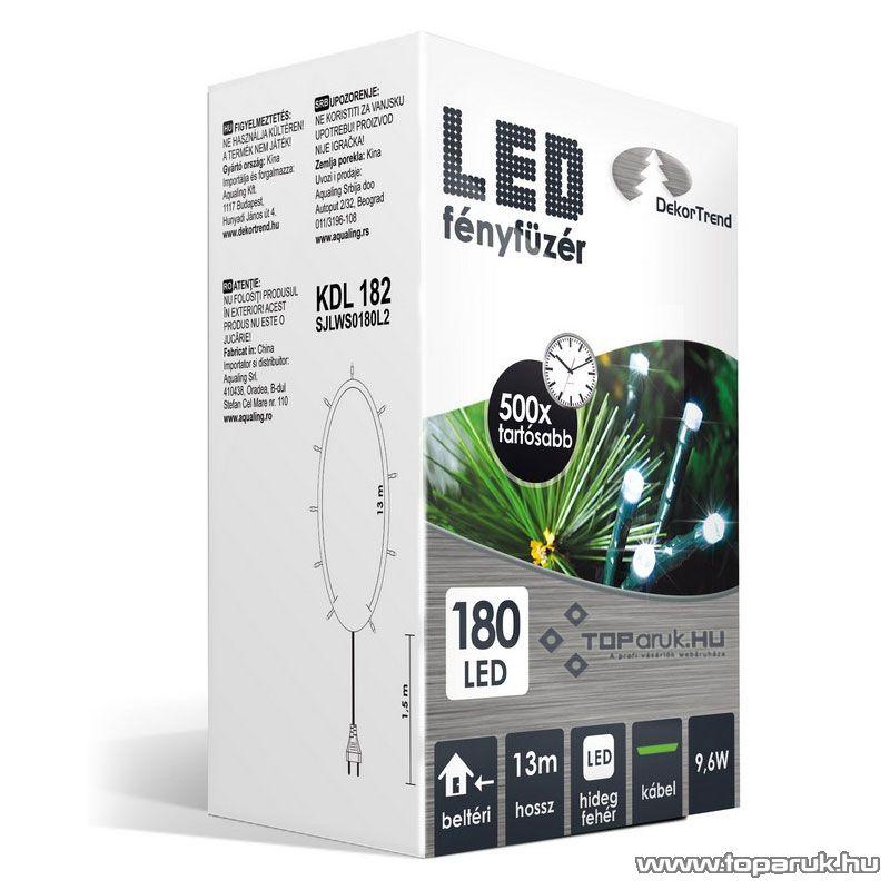 Design Dekor KDL 182 Beltéri LED-es fényfüzér, 180 db hidegfehér LED-del