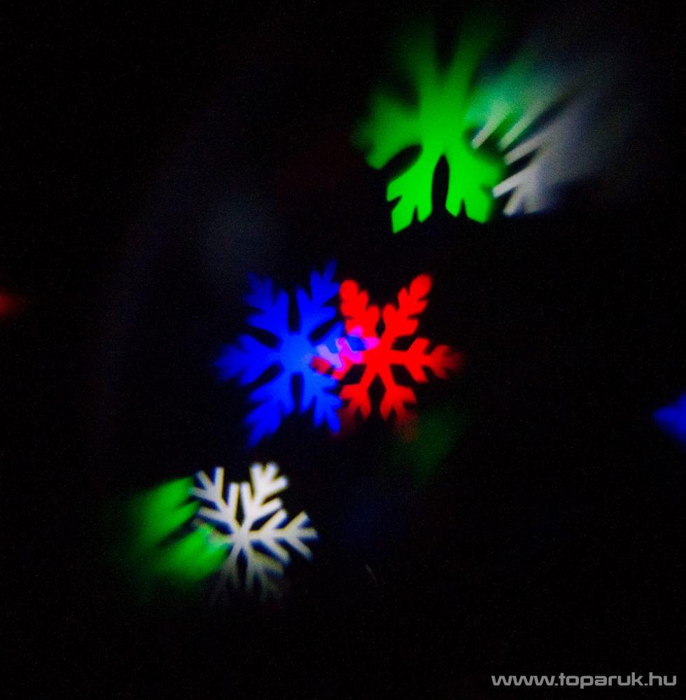 Design Dekor KDP 203 Kültéri karácsonyi mintás kivetítő PROJEKTOR, Hull a hó