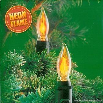 Design Dekor KMN 026 Beltéri gyertya láng füzér 10 égővel, melegfehér - készlethiány