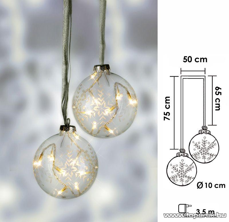 Design Dekor KSA 262 Beltéri Vesta dekorgömb, fehér, 2 db / csomag - készlethiány