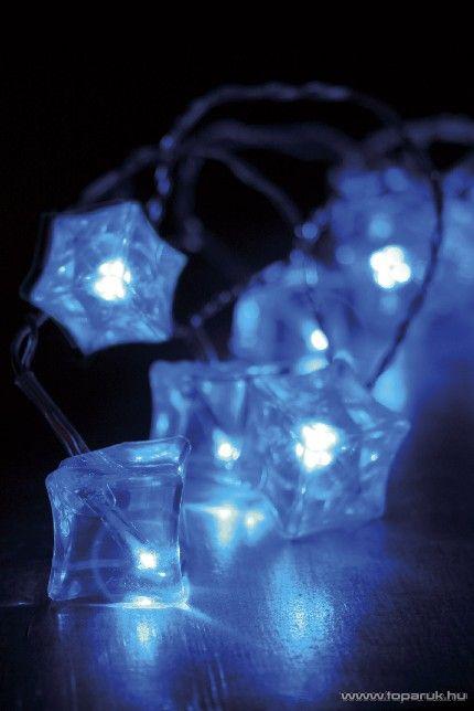 Design Dekor KSA 409 Beltéri LED-es jégkocka fényfüzér, kék, 3,8 m / 20 égős