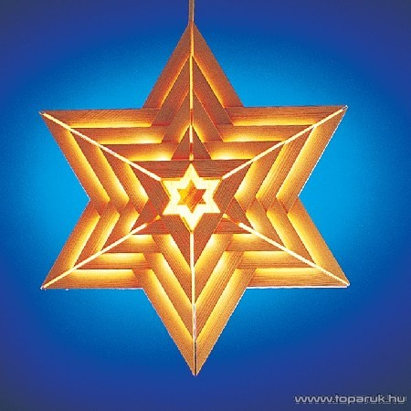 Design Dekor KSA 682 Beltéri csillag ablakdísz, 38 x 38 cm