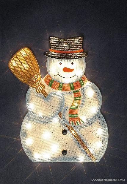Design Dekor KSA 692 Beltéri Hóember figura, fehér világítással - készlethiány