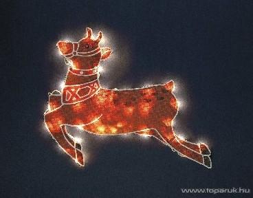 Design Dekor KSA 711 Beltéri szarvas figura világítással, 45x55 cm