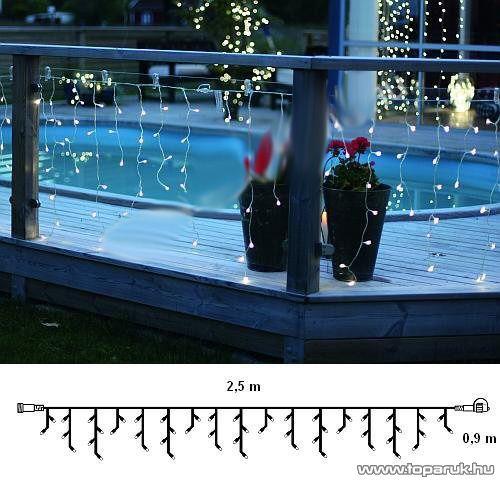 System Decor LED KSA 718 Kültéri toldható LED-es jégcsapfüzér EXTRA, 250 x 90 cm, hidegfehér - készlethiány
