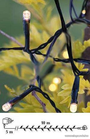 System Decor LED KSA 722 Kültéri toldható LED-es fényfüzér START, 10 m, melegfehér - készlethiány