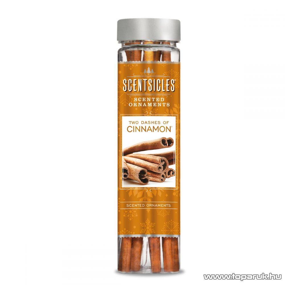ScentSicles KSC 004 Two Dashes of Cinnamon műfenyőre akasztható illatrúd (illatpálca), fahéj illattal, 6 db pálca / doboz
