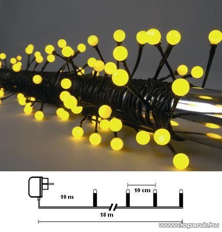 Design Dekor KST 262 Kültéri Party LED-es fényfüzér, 8 m, sárga leddel