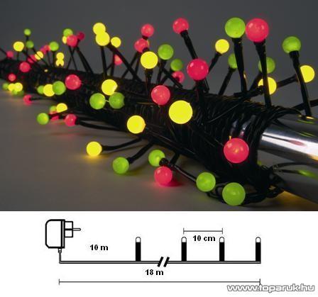 Design Dekor KST 270 Kültéri Party LED-es fényfüzér, 8 m, színes leddel
