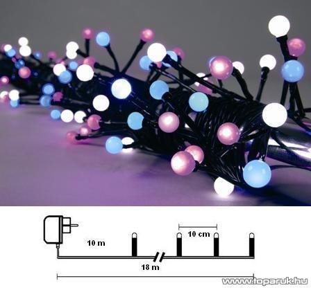 Design Dekor KST 290 Kültéri Party LED-es fényfüzér, 8 m, multi színes leddel