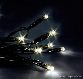 SERIE LED KST 646 Kültéri fényfüzér, 6 m, fekete kábellel, melegfehér