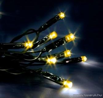 SERIE LED KST 650 Kültéri fényfüzér, 12 m, fekete kábellel, sárga - készlethiány